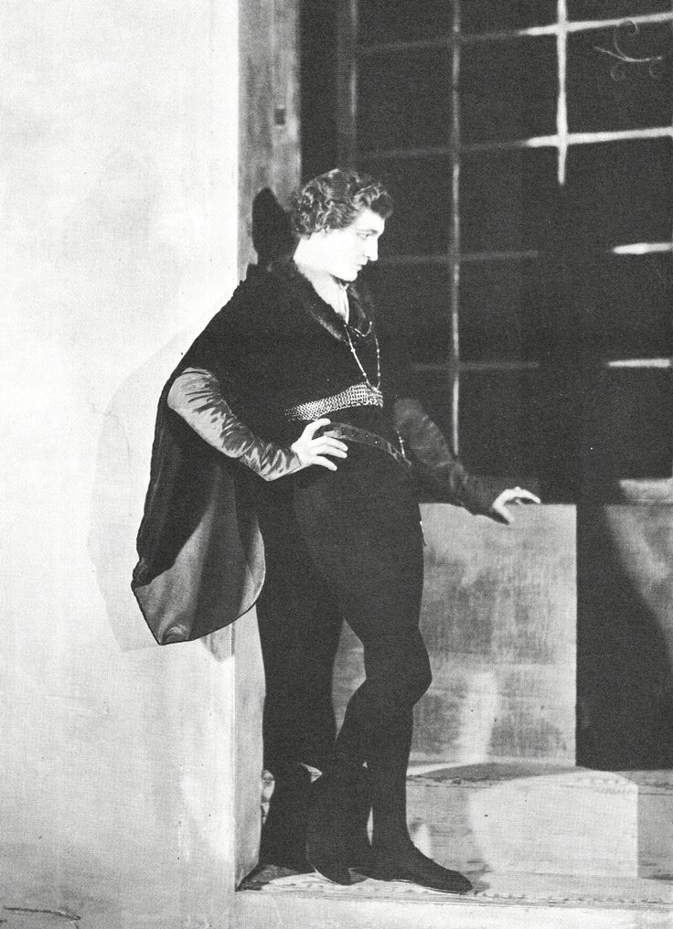 John Barrymore photographed by James Abbe for Hamlet, 1925