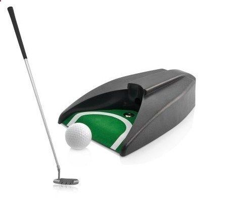 Golf Gifts - Complete Executive Indoor Golf Putter Gift Set with Ball Return Function