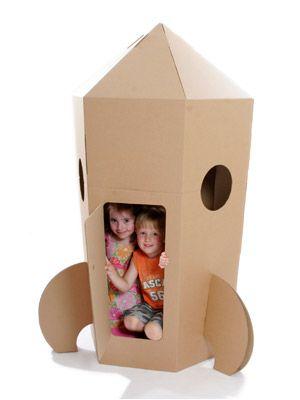 Sweet cardboard rocket!