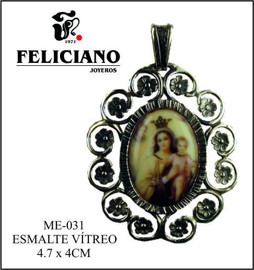 Hola Feliciamig@s. Feliciano joyeros quiere felicitar a todas las Carmenes, y para ello os presenta esta medalla de la Virgen del Carmen en plata y esmalte vítreo. Muchas felicidades a todas.