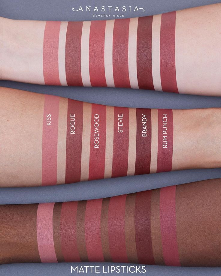 A few swatches of #ABHMatteLipstick  #ABHLips #AnastasiaBeverlyHills