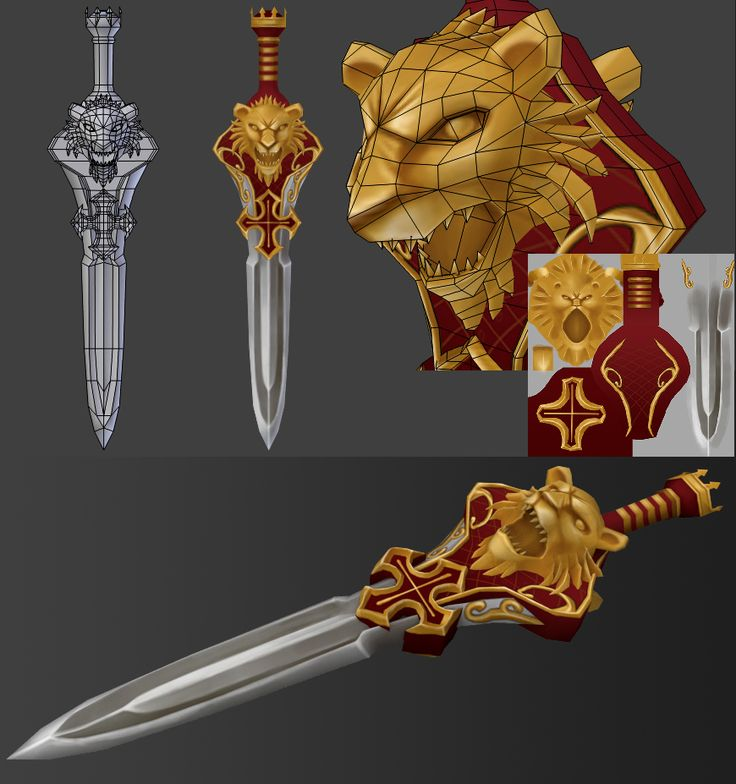 """23 swords_by le0tard_from Polycount Forum, """"23 swords"""", page13. _點開整串有全23把布線圖。"""