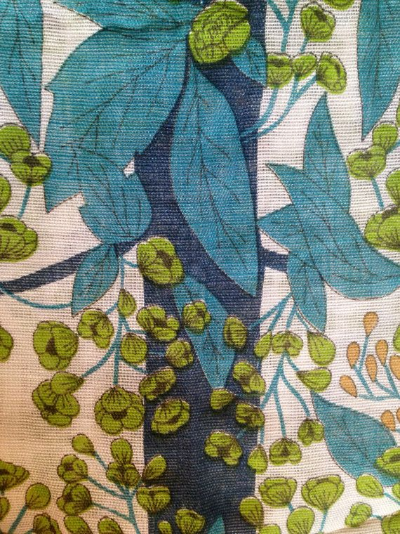 Swedish 60s vintage fabulous fabric. Scandinavian design. Perfect condition