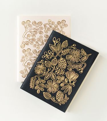 Gold Foil Pocket Notebooks - riflepaperco.com $10.00