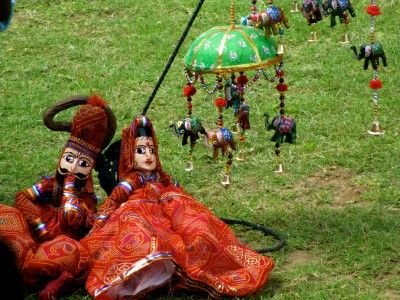 Puppets in Samode Bagh, Rajasthan India