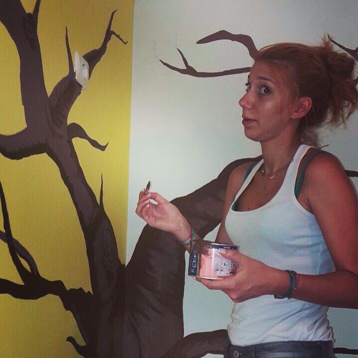 #caught_in_action #mural #tree #decorate #deco #paint #art #baby_room #baby_coming #preparations #enjoy