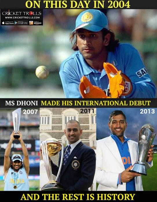 #Onthisday in 2004 a 23-year-old MS Dhoni made his debut for #TeamIndia and rest is For more cricket fun click: http://ift.tt/2gY9BIZ - http://ift.tt/1ZZ3e4d