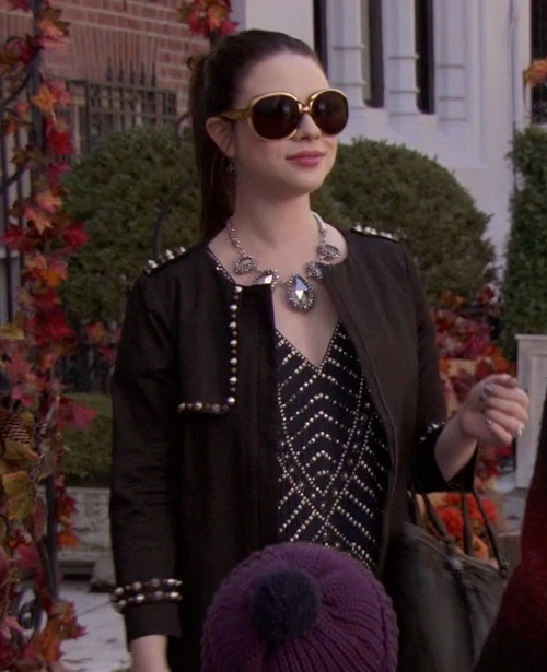 Georgina Sparks's Black Jacket with Spikes from Gossip Girl: It's Really Complicated #ShopTheShows #curvio