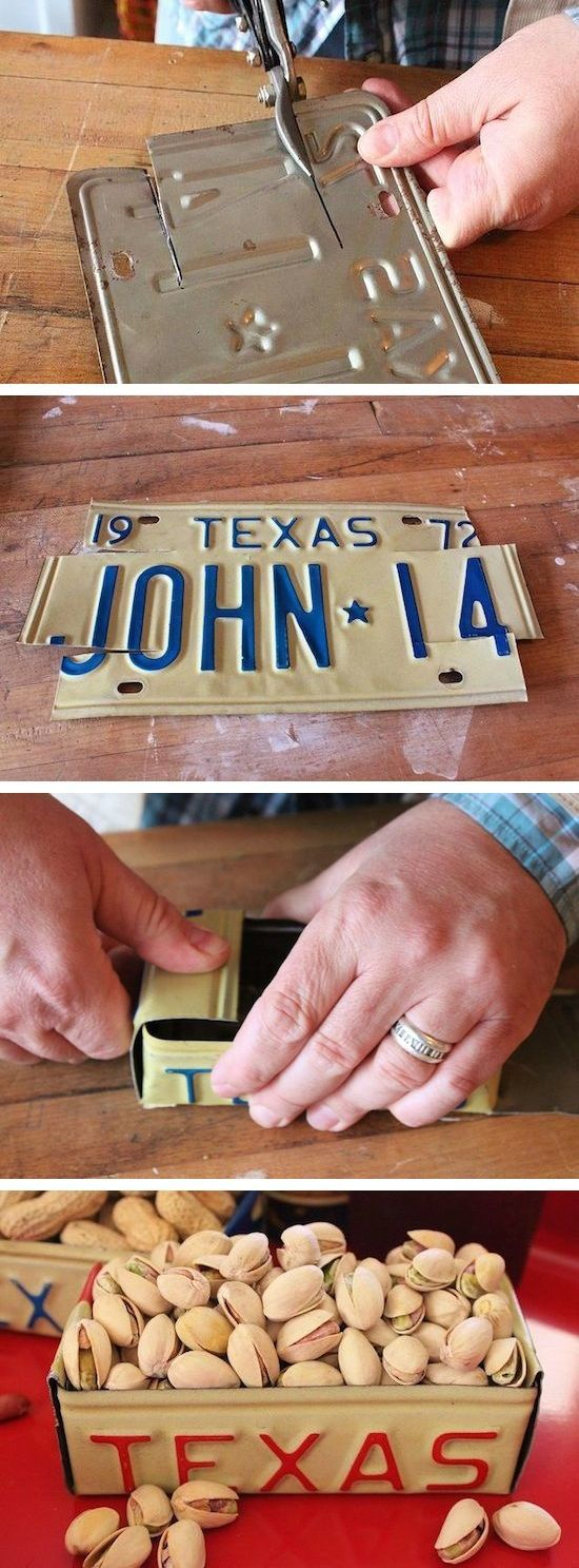 DIY License Plate Box -- Lots of easy and fun craft ideas for the home! I'll bet you could make and sell some of these.