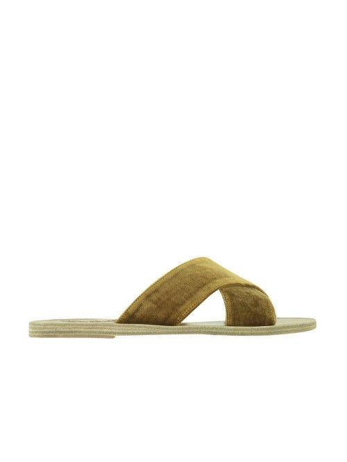 ANCIENT GREEK SANDALS / SANDALES THAIS JAUNE #anciengreeksandals #shoes #accessories #fashion #mode #paris #chic #bymariestore