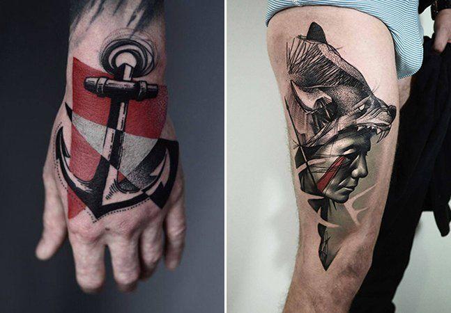 Pode ter certeza que você nunca viu uma tatuagem parecida com as do tatuadorTimur Lysenko.O artista polonês temestilo próprio, traços fortes e marcantes. Ele utiliza diferentes tipos de traços, entre eles pontilhados, geométricos e pixelados. É difícil definir os desenhos do artista em um único estilo: surrealismo,blackwork, 3D,sketches, old schol, Polka Trash,tudo isso resulta em uma verdadeira obra de arte. O tatuador misturatinta preta com cores fortes como o vermelho, verde e…