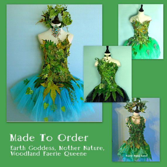 Un spécial fabriqué sur commande - votre taille et le choix des couleurs - Mère Nature, costume de fée des bois ! Vôtre ne sera pas exactement