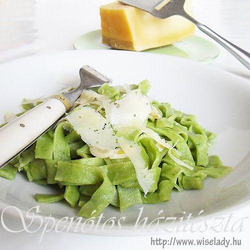 Anya főztje: Spenótos házitészta - zöld tészta