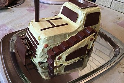 Bagger Planierraupe - Kuchen für den Kindergeburtstag 2