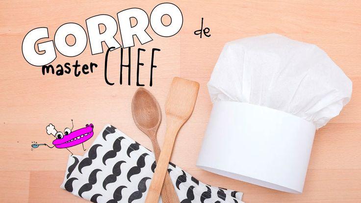 Cómo hacer un gorro de cocinero de papel. Gorro de chef con papel, manualidades para niños. Aquí tenéis más detalles del tutorial: http://www.manualidadesinf...