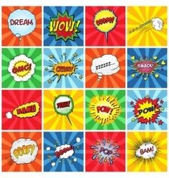 Vector image of Pop art comic speech bubble Vector Image, includes comic, background, pattern, retro & style. Illustrator (.ai), EPS, PDF and JPG image formats.