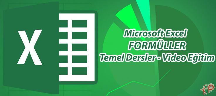 #Microsoft #Office #Excel – #Formüller – #Video #Eğitim | #Fikir #Proje #Ajans  http://www.fpajans.com #eğitim #ders #video #pdf #pc #dosya