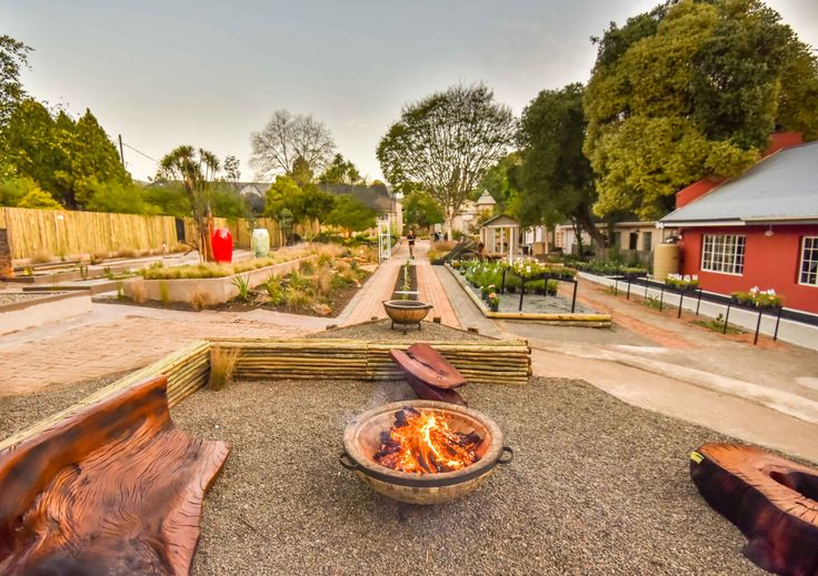 #fire pit area designed and installed by Hurst Projects at The Courtyard #Designyourlife