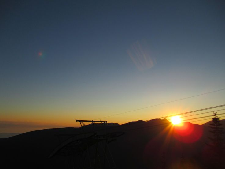 Sunset, Grouse Mountain, North Vancouver, BC, Canada, Summer