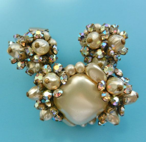 50s rare layered cluster baroque pearls and AB by RAKcreations
