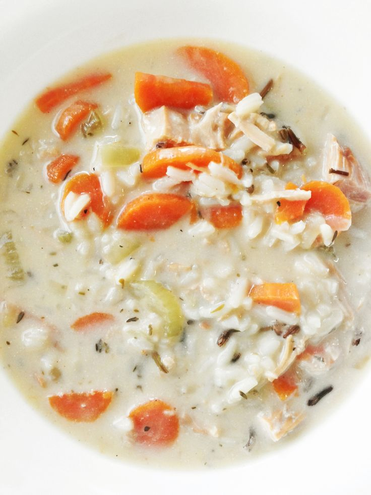 Skinny Turkey & Wild Rice Soup ~ This soup is a perfect 'leftover' meal that is easy to toss together... It's creamy, rich, and absolutely worth savoring to the last drop