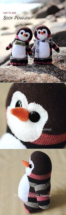 Sock Penguin - Free Sew Pattern