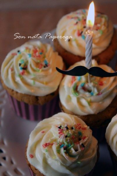 Cupcakes vaniglia frosting latte condensato