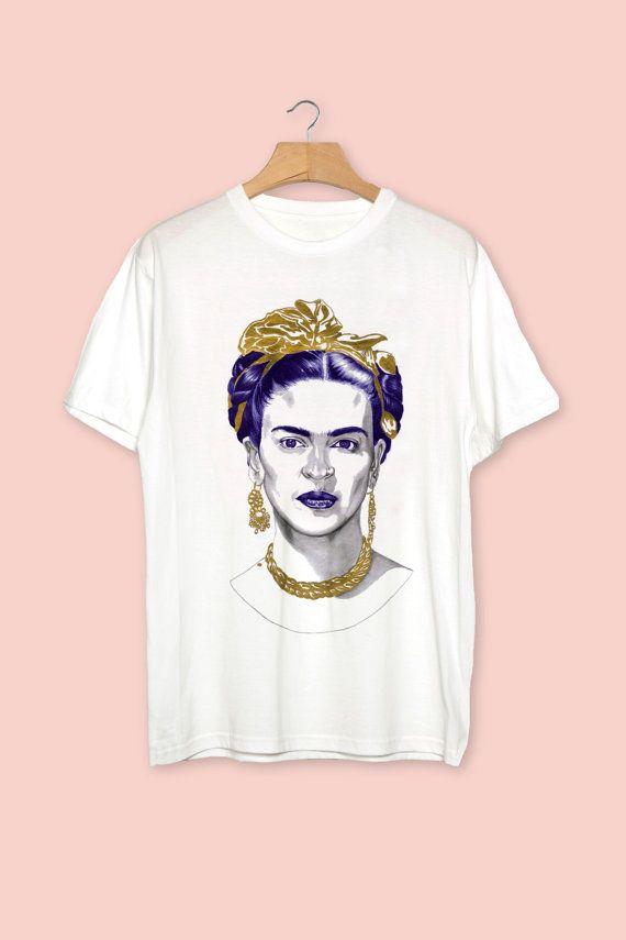 T-shirt Frida Kahlo vêtement vêtement homme unisexe par ByCarlotta