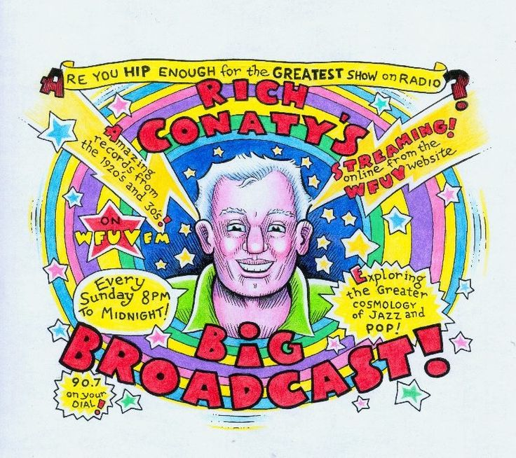 Artwork by Kim Deitch for his favorite radio show.