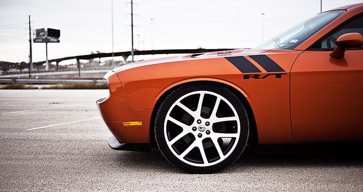 toxic orange challenger r/t with viper wheels, my favorite color with favorite mopar wheels