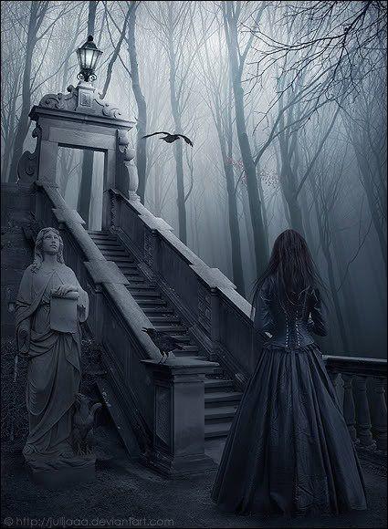 Dama en el cementerio...