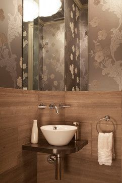 Back Bay Living Updated contemporary powder room