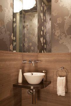 Corner Powder Room Sink Design Ideas, Pictures, Remodel and Decor
