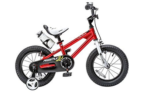 RoyalBaby BMX Freestyle Kids Bike Boys Bikes and Girls Bikes with training wheels Gifts for children 16 inch wheels Red