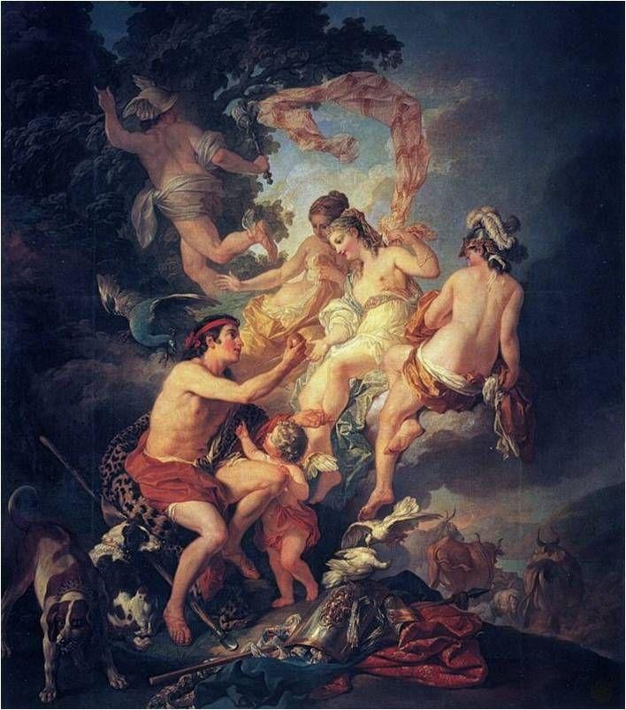 Paridův soud (Judgement of Paris) - Louis Jean Francois Lagrenée