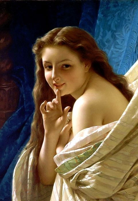 Pierre Auguste Cot (17 February 1837 – 2 August 1883)    Pierre-Auguste Cot woke at dawn, painted while there was good light. His paintings showed great originality, merging his conventional classical interests with innocent sensuality.