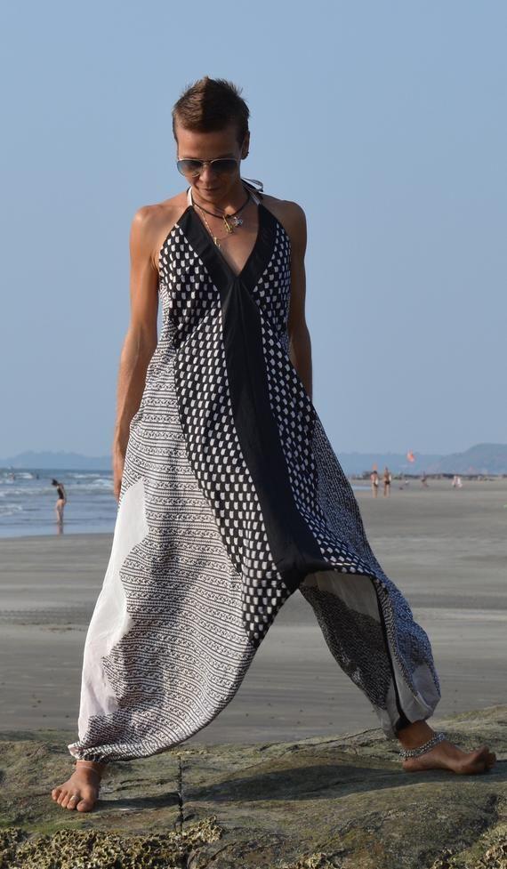 5+ Colors Mandala 20 Torso ONE SIZE Fits S-XL White Black Shown Jumpsuit Women Beach Cover Up Bohemian Summer Dress Harem Jumpsuit