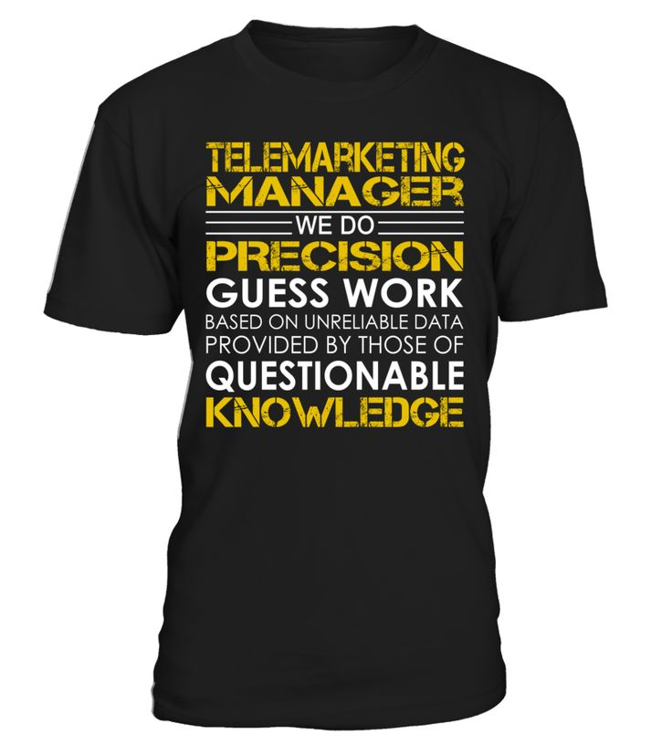 Telemarketing Manager - We Do Precision Guess Work