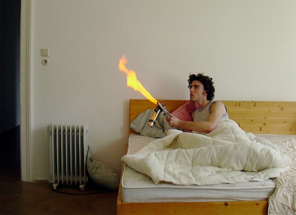 For pyromania, burn the mosquito! The Mosquito Catcher by Johannes Vogl.  a little over the top, but I understand the need