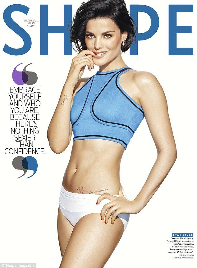 Sultry: Jaimie Alexander is featured on the cover of Shape magazine's March issue...