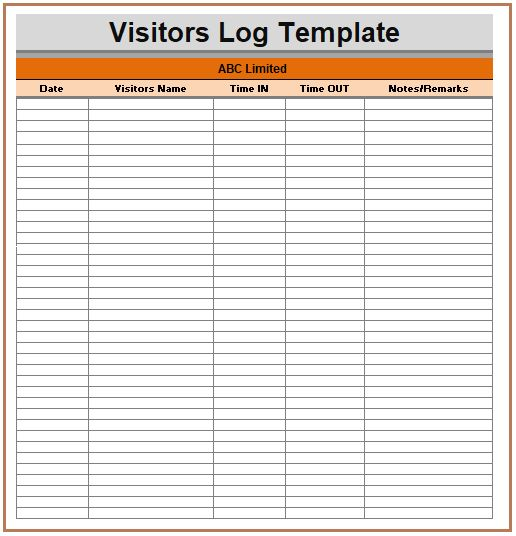 63 best Logs images on Pinterest Journals, Logs and Role models - sample visitor sign in sheet