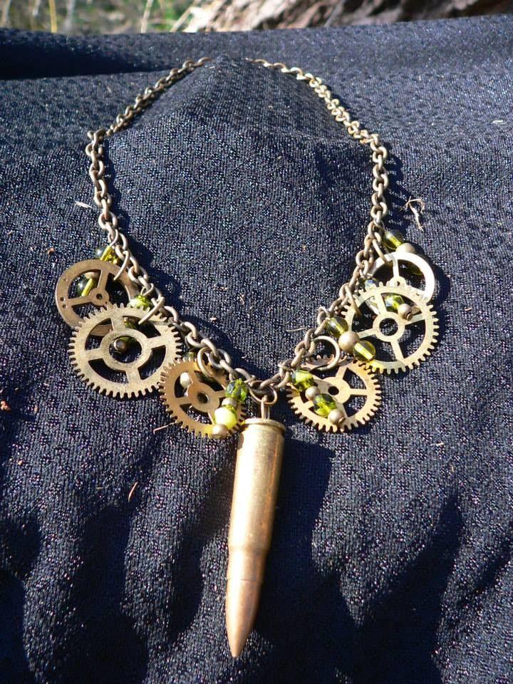 Necklace Steampunk Gun