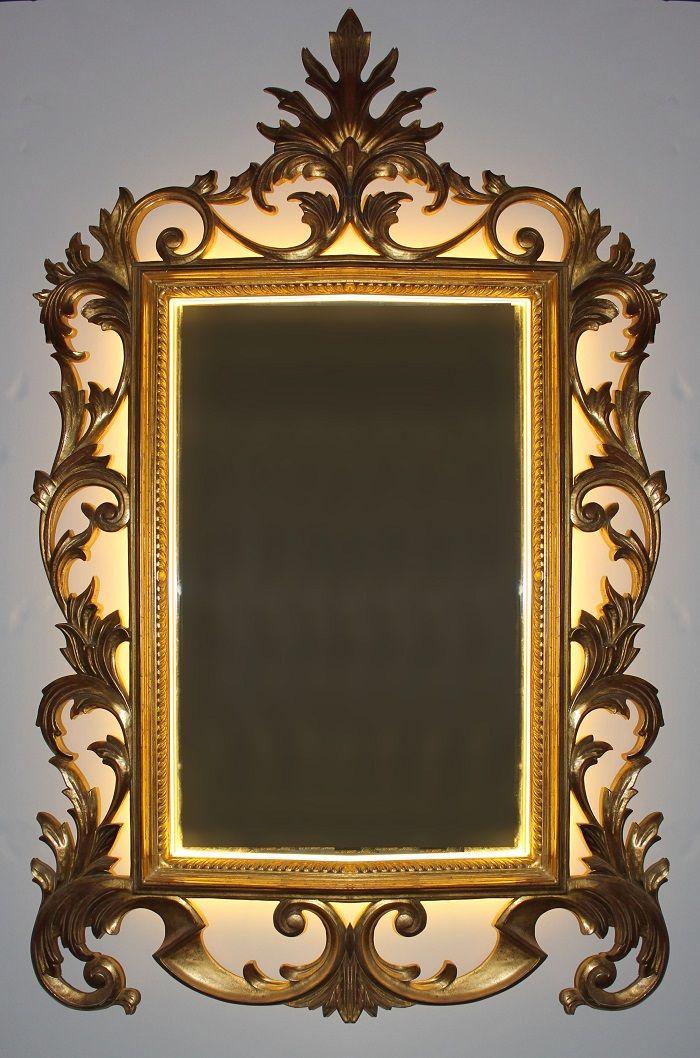 8 best images about marcos y espejos artesanos con luz on for Espejos con iluminacion