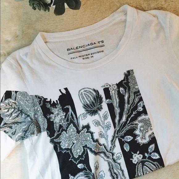 Balenciaga T shirt Balenciaga graphic T shirt. Limited edition. Worn once. Balenciaga Tops Tees - Short Sleeve