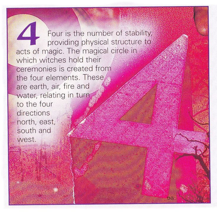 Numerical associations the number 4