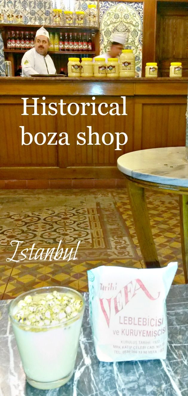 Vefa Boza seller in Istanbul's Fatih district has been making boza since 1876. Mustafa Kemal Ataturk, the founder of Turkish Republic, and many other remarkable people of Turkey drank their boza in this shop. Ataturk's personal boza cup is framed and displayed here.