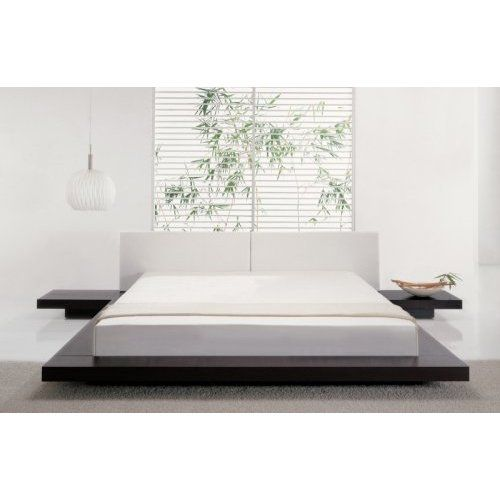 platform bed attached nightstands teen rooms pinterest low beds furniture and queen size. Black Bedroom Furniture Sets. Home Design Ideas