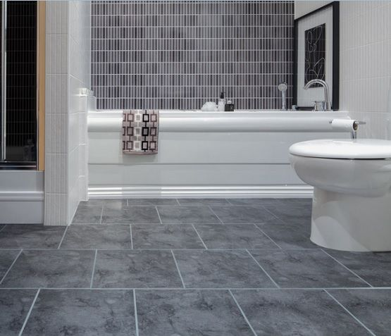Gray vinyl sheet flooring for bathroom | Flooring Ideas | Floor ...