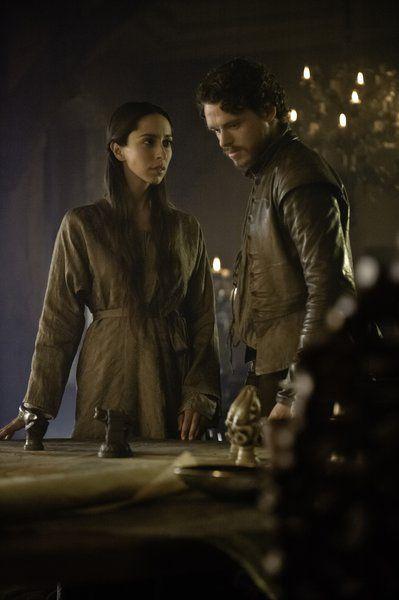 Oona Chaplin as Talisa Stark and Richard Madden as Robb Stark in 'Game Of Thrones' Season 3