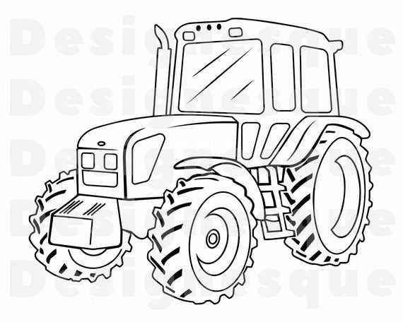 Tractor Outline 5 Svg Tractor Svg Farm Tractor Svg Tractor Etsy In 2021 Tractor Coloring Pages Tractor Clipart Free Coloring Pages
